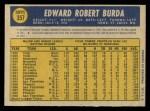 1970 O-Pee-Chee #357  Bob Burda  Back Thumbnail