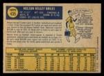 1970 O-Pee-Chee #435  Nelson Briles  Back Thumbnail