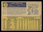 1970 O-Pee-Chee #102  Joe Rudi  Back Thumbnail