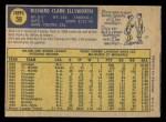 1970 O-Pee-Chee #59  Dick Ellsworth  Back Thumbnail