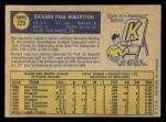 1970 O-Pee-Chee #229  Rich Robertson  Back Thumbnail