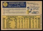 1970 O-Pee-Chee #316  Skip Guinn  Back Thumbnail