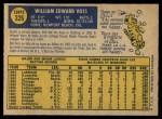 1970 O-Pee-Chee #326  Bill Voss  Back Thumbnail