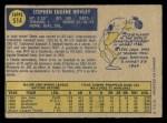 1970 O-Pee-Chee #514  Steve Hovley  Back Thumbnail