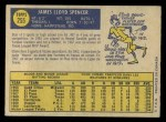 1970 O-Pee-Chee #255  Jim Spencer  Back Thumbnail