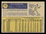 1970 O-Pee-Chee #170  Billy Williams  Back Thumbnail