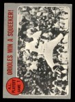 1970 O-Pee-Chee #199   1969 AL Playoff - Game 1 - Orioles Win Squeeker Front Thumbnail
