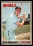 1970 O-Pee-Chee #255  Jim Spencer  Front Thumbnail