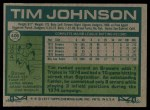 1977 Topps #406  Tim Johnson  Back Thumbnail