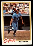 1978 Topps #348  Del Unser  Front Thumbnail