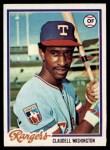 1978 Topps #67  Claudell Washington  Front Thumbnail