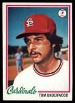 1978 Topps #531  Tom Underwood  Front Thumbnail