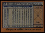1978 Topps #290  Willie Horton  Back Thumbnail
