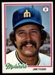 1978 Topps #333  Jim Todd  Front Thumbnail