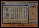1978 Topps #616  Pat Kelly  Back Thumbnail
