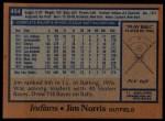 1978 Topps #484  Jim Norris  Back Thumbnail