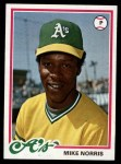 1978 Topps #434  Mike Norris  Front Thumbnail