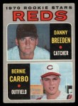 1970 O-Pee-Chee #36   -  Danny Breeden / Bernie Carbo Reds Rookies Front Thumbnail
