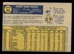 1970 O-Pee-Chee #366  Barry Moore  Back Thumbnail