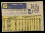 1970 O-Pee-Chee #190  Joe Torre  Back Thumbnail