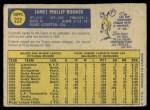 1970 O-Pee-Chee #222  Jim Rooker  Back Thumbnail