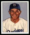 1950 Bowman REPRINT #58  Carl Furillo  Front Thumbnail