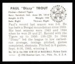 1950 Bowman REPRINT #134  Dizzy Trout  Back Thumbnail