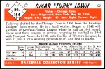 1953 Bowman REPRINT #154  Turk Lown  Back Thumbnail