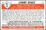 1953 Bowman REPRINT #31  Jimmy Dykes  Back Thumbnail