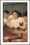 1953 Bowman REPRINT #44  Mickey Mantle / Yogi Berra / Hank Bauer  Front Thumbnail