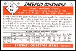 1953 Bowman REPRINT #89  Sandy Consuegra  Back Thumbnail