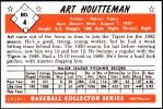 1953 Bowman REPRINT #4  Art Houtteman  Back Thumbnail