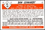 1953 Bowman REPRINT #20  Don Lenhardt  Back Thumbnail
