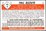 1953 Bowman REPRINT #9  Phil Rizzuto  Back Thumbnail