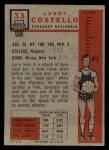 1957 Topps #33  Larry Costello  Back Thumbnail