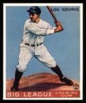 1933 Goudey Reprint #92  Lou Gehrig  Front Thumbnail