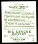 1933 Goudey Reprint #98  Wally Berger  Back Thumbnail
