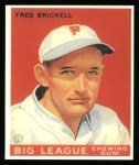1933 Goudey Reprint #38  Fred Brickell  Front Thumbnail