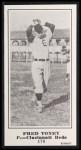 1916 M101-5 Blank Back Reprint #178  Fred Toney  Front Thumbnail