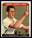 1933 Sport Kings Reprint #46  Ellsworth Vines   Front Thumbnail