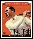 1933 Sport Kings Reprint #8  Walter Hagen   Front Thumbnail