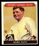 1933 Sport Kings Reprint #2  Babe Ruth   Front Thumbnail