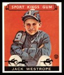 1933 Sport Kings Reprint #39  Jack Westrope   Front Thumbnail