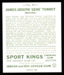 1933 Sport Kings Reprint #18  Gene Tunney   Back Thumbnail