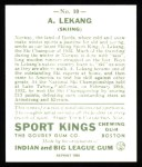 1933 Sport Kings Reprint #10  Anton Lekang   Back Thumbnail