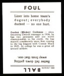 1936 Goudey Reprint #7  Mickey Cochrane  Back Thumbnail