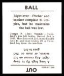 1936 Goudey Reprint #23  Joe Vosmik  Back Thumbnail