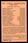 1922 E120 American Caramel Reprint #97  Will Jacobson  Back Thumbnail
