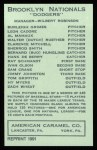 1922 E120 American Caramel Reprint #143  Al Mamaux  Back Thumbnail