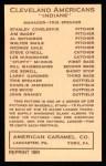 1922 E120 American Caramel Reprint #40  Joe Sewell  Back Thumbnail
